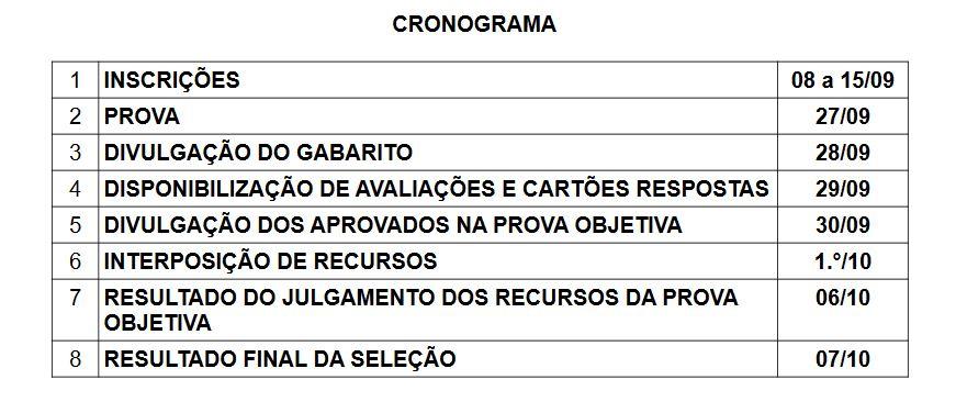 EXAME DE SELEÇÃO CRONOGRAMA NOVO 15c21